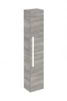 Royo Onix 300mm Tall Wall Unit with White Handles in Sandy Grey