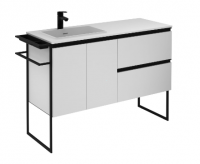 Royo Structure 1200mm 2 Door, 2 Drawer Unit in Matt White with Basin