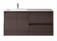 Royo Valencia 1200mm 2 Drawer, 2 Door Wall Unit and Ceramic Basin in Samara Ash