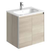 Royo Valencia 600mm 2 Door Wall Unit and Ceramic Basin in Gloss White