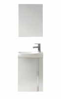 Royo Elegance 455mm Wall Hung Cloakroom Unit with Mirror - Gloss White
