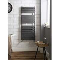 Hudson Reed Flat Panel Heated Anthracite Towel Rail 1213 x 500mm