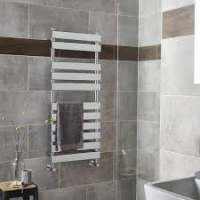 Hudson Reed Piazza Heated Chrome Towel Rail 950 x w500mm