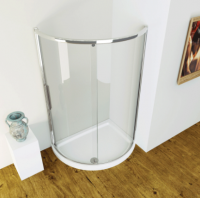 Kudos Original - 1200mm x 910mm - One Door Offset Quadrant Shower Enclosure with Side Access