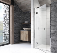1400mm - Pinnacle 8 Hinged Shower Door for Recess - Right Hand - Kudos