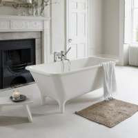Lonio Classic 1700 x 750 Natural Stone Freestanding Bath - Clearwater