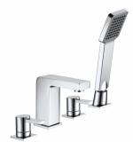 Italia Pano Four Tap Hole Bath Shower Mixer - Aquaflow