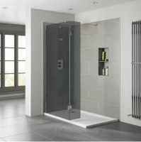 Frontline Prestige2 800mm Smoked Wetroom Shower Screen 10mm Glass