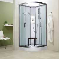 Vidalux Pure E 1000 Luxury Shower Cabin 1000 x 1000mm with Triton Electric Shower - White