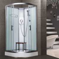 Vidalux Pure E 1000 Standard Shower Cabin 1000 x 1000mm with Triton Electric Shower - White