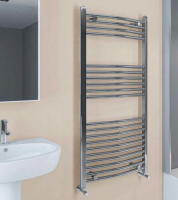 Wingrave Curved Chrome Towel Rail 800mm x 600mm - Eastbrook