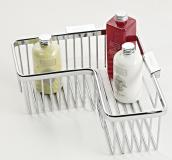 Roman L Shaped Corner Shower Basket - RSB04