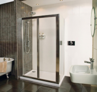 Bi-Fold Shower Door - 1200 -  Silver - Roman Showers Collage
