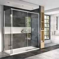 Decem Level Access Sliding Door Shower Enclosure - 1400 x 900mm - Corner Fitting - Roman Showers
