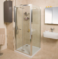 Bi-Fold Shower Door - 1000 -  Silver - Roman Showers Embrace