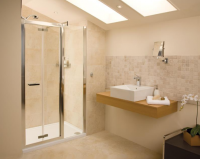 Bi-Fold Shower Door - 1200 -  Silver - Roman Showers Embrace