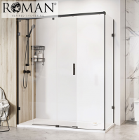 Roman Liberty 1400 x 800mm Sliding Door Shower Enclosure for Corner Fitting, 8mm Glass