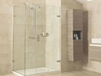 Roman Liberty 1000 x 800mm Hinged Shower Door with Side and In-Line Panels - 10mm Glass