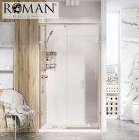 Roman Liberty 1200mm Sliding Shower Door for Alcove Fitting - 8mm Glass