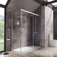 Decem Sliding Door Shower Enclosure - 1200 x 800mm - Corner Install - Roman Showers
