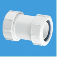 McAlpine Straight White Waste Pipe Connector 32mm X 32mm - S28M