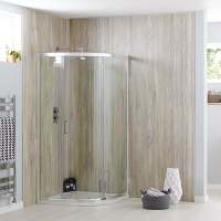 Sommer6 Single Door Quadrant 900 x 900mm Chrome Shower Enclosure