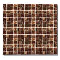 Abacus Brown Square Glass Mosaic Tile Sheet - 327 x 327mm