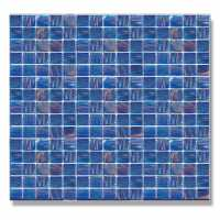 Abacus Blue Glass Mosaic Tile Sheet - 327 x 327mm