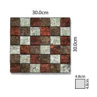 Abacus Copper Bronze Silver Mixed Glass Mosaic Tile Sheet - 300 x 300mm