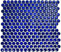 Abacus Direct Round Blue Mosaic Tile - 315 x 294mm Box of 10 Sheets