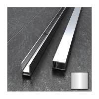 Wet Room 10mm Polished Silver Glass Surface Channel 1000mm