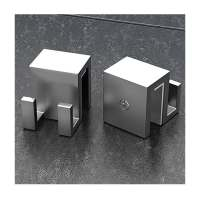 Vessini X Series Wetroom Glass Double Robe Hook