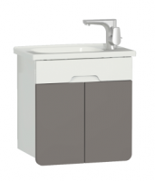Vitra D-Light 500mm Washbasin Unit - Matt White - Mink