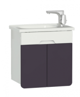 Vitra D-Light 500mm Washbasin Unit - Matt White - Purple