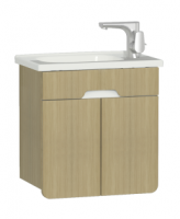 Vitra D-Light 500mm Washbasin Unit - Natural Oak