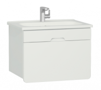 Vitra D-Light 700mm Washbasin Unit - Matt White
