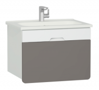 Vitra D-Light 700mm Washbasin Unit - Matt White - Mink