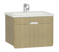 Vitra D-Light 700mm Washbasin Unit - Natural Oak