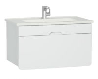 Vitra D-Light 900mm Washbasin Unit - Matt White