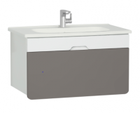 Vitra D-Light 900mm Washbasin Unit - Matt White - Mink