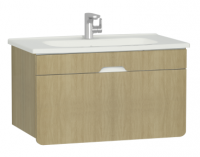 Vitra D-Light 900mm Washbasin Unit - Natural Oak