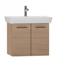 Vitra S20 650mm Golden Cherry Double Door Wall Hung Unit inc Basin