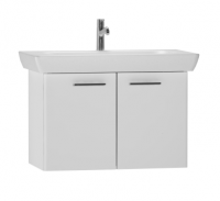 Vitra S20 850mm Gloss White Wall Hung Double Door Vanity Unit & Basin