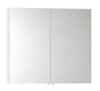 Vitra 1000mm Gloss White Double Door Mirror Cabinet