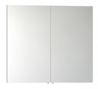 Vitra 800mm Gloss White Double Door Mirror Bathroom Cabinet