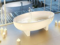 Clearwater Lacrima 1690 x 800 Freestanding Bath - Natural Stone N12