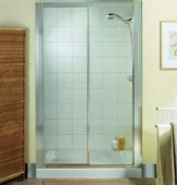 Roman Showers Collage Sliding Door 1000mm - Silver
