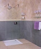 Reduced Height Collage Wetroom Wetroom Glass Screen - 950mm - Roman
