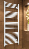 Wingrave Straight Matt White Towel Rail 1200mm x 600mm - Eastbrook