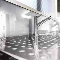 Lustrolite Arctic White Kitchen Panel / Splash Backs